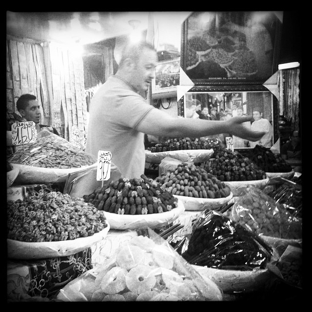 Searching For Dried-Fruit-Man... #driedfruit #nuts #perfectpiles #souqs #friendlymerchant #imhungry #costcosampleplate #fes #fez #medina #morocco #moroc